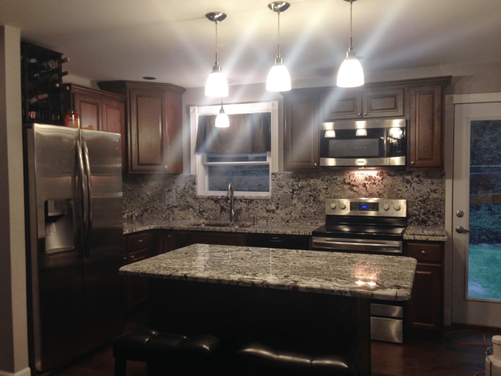 New Azul Aran Granite Kitchen - Project Details And Pictures