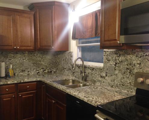 New Azul Aran Granite Kitchen