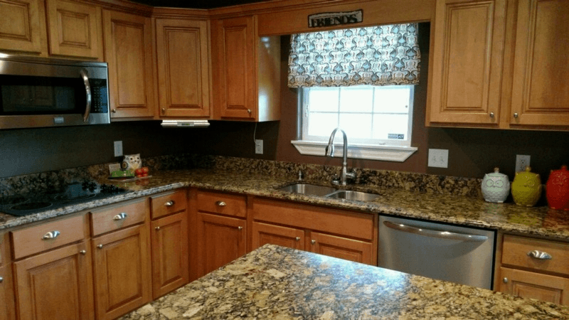 Portofino Gold Granite Kitchen - Project Details And Pictures