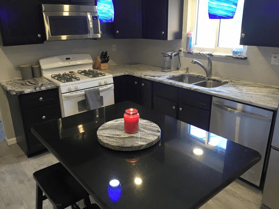 Silver Cloud Granite Kitchen