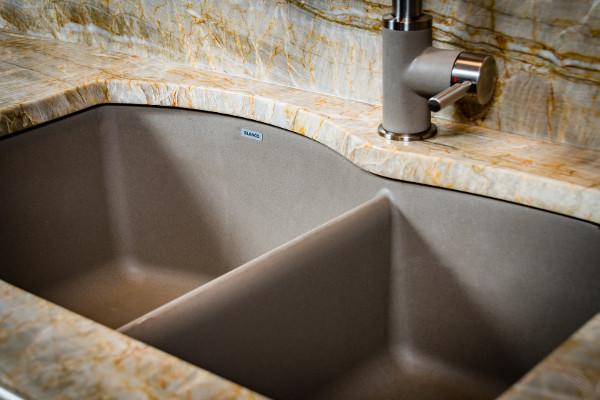 60 40 Blanco Kitchen Sink In Pewter Titan Granite St