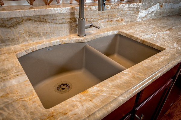 60 40 Blanco Undermount Kitchen Sink In Pewter Titan