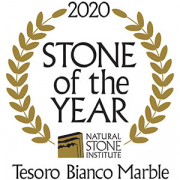 Natural Stone Institute Stone of The Year Tesoro Bianco Marble